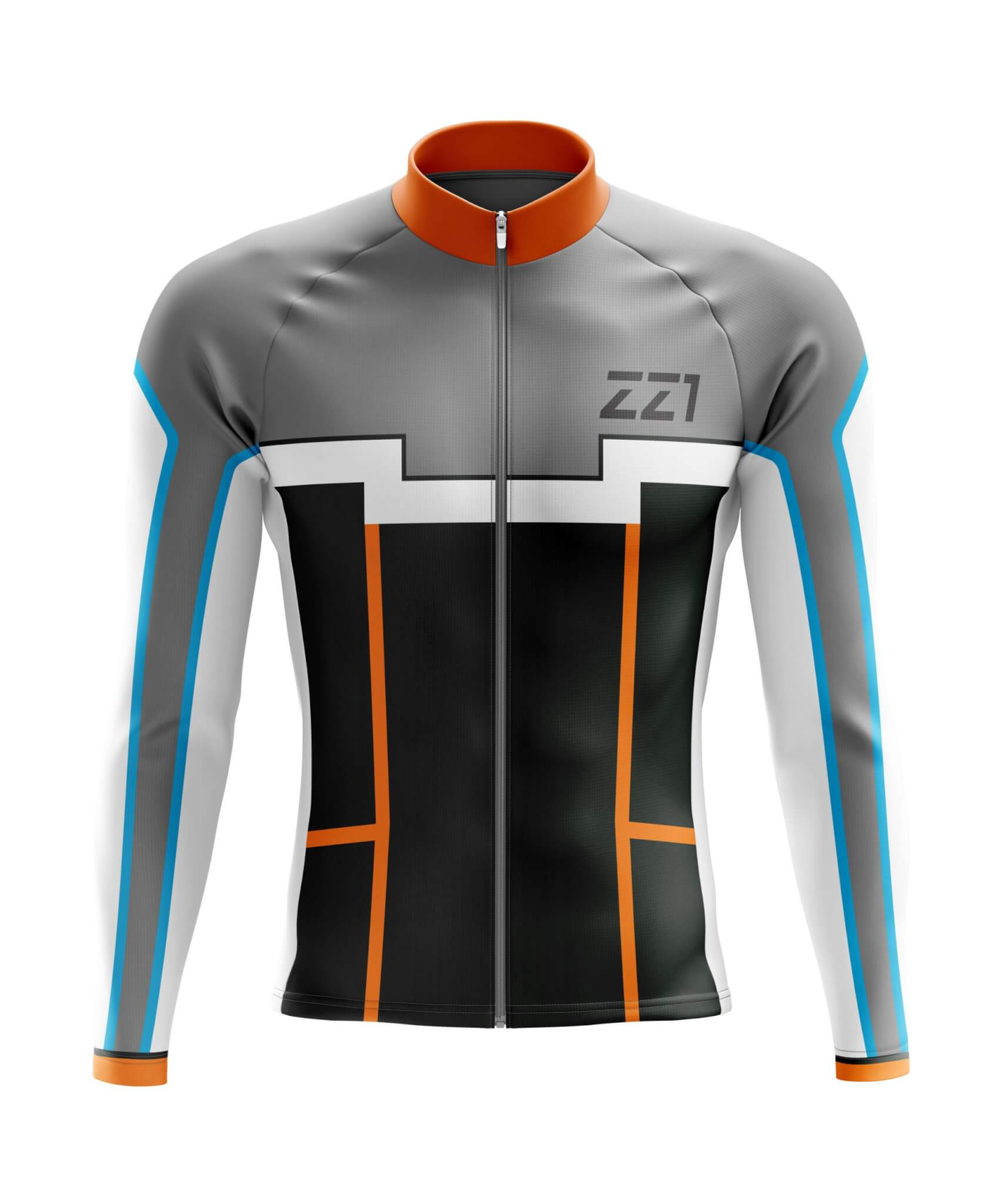 Custom Cycle Jersey (Long Sleeve) Front